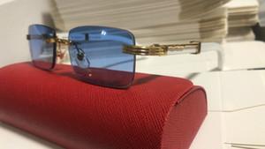 2020 cuerno de búfalo gafas sin montura hombre de la moda Deportes búfalo blanco blalck Buffalo gafas de sol sin montura Actitud de los hombres gafas de sol de madera