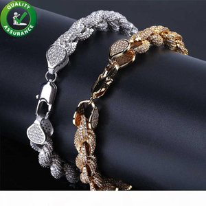 Mens Gold Bracelets Hip Hop Jewelry Diamond Tennis Bracelet for Love Luxury Designer Bangles Pandora Style Charms Iced Out Bling Rope Chain