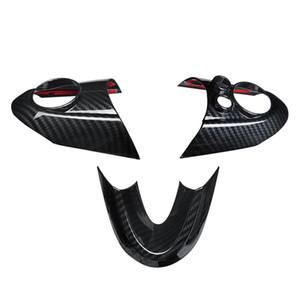 MINI 쿠퍼 F54의 F55 F56의 F57의 F60 탄소 섬유 스타일 액세서리 자동차 인테리어 스티커 커버에 대한 3PCS Steeing 휠 커버
