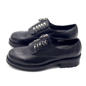 Британский стиль Zip Платформа круглый носок Повседневная обувь Мужчины Ретро Высота Увеличение Подлинная Корова Кожаная обувь Офис Формальная обувь