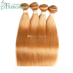 pelucas Fairgreat Brazilian Straight Human hair Weft Non Remy Color Light #27 100% Human Hair Extensions Brazilian Virgin Hair Bundles Big P