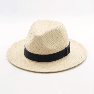 Großhandel Panama Hut Strohhut Frauen Sommer 2017 Strand Sonnenhüte für Männer Raffia Strohhut