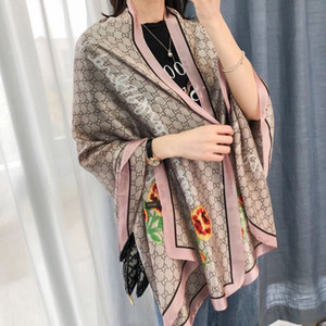 pañuelo de seda exquisita para las mujeres deisgn de lujo francés de alta calidad chal bufandas de seda de la moda clásica noble mujer bufanda headbrand
