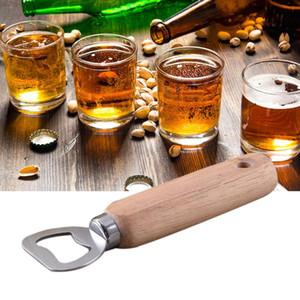 Orijinal ahşap renk sap + bir metal tel çekme açıcı Şarap şişe açacağı aracı KHA181 açıcı Ahşap kolu paslanmaz çelik bira şişesi