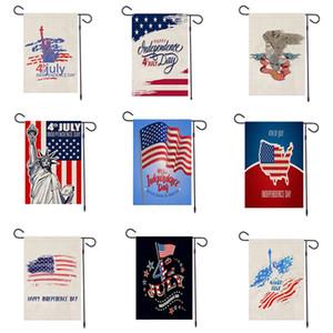 """Bandeira Garden 12.6 """"x18.5"""" Partido Bandeira Dia da Independência EUA Bandeiras americanas que comemoram Dois Lados poliéster impressão Bem-vindo Bandeira VT1428"""