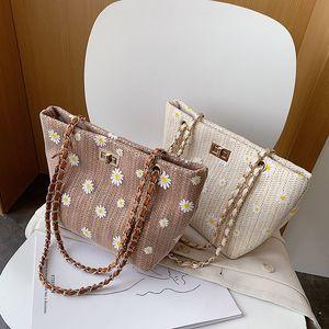 Bags For New Summer Shoulder Lady Bag Bolsos Bimba Flower Travel Sac A Lola Female Straw Bags Y Chain Main Women For Femme 2020 Nrhwo Fumvw