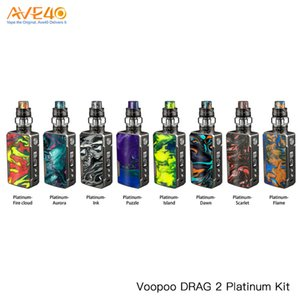 100% Authentic Voopoo Drag 2 Platinum Kit 177W With Uforce T2 Tank N3 U2 Coils GENE.FIT Chip Inside VS Drag Mini Kit