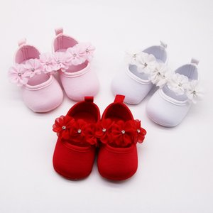baby baby 0-1 year old all-match dress shoes soft sole anti-slip toddler flower bright diamond princess shoes