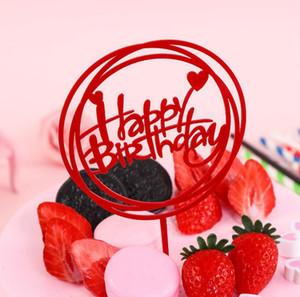 Amor do casamento de acrílico de coco do bolo cor-de-ouro Feliz aniversario Acrílico bolo de coco para o partido de aniversário dos miúdos do bolo de casamento Detalhes no GB1140