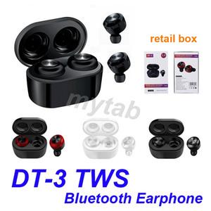 DT-3 DT3 TWS мини Bluetooth наушники V5. 0 правда беспроводные наушники стерео водонепроницаемый Спорт наушники гарнитура с зарядной коробкой 3 цвета