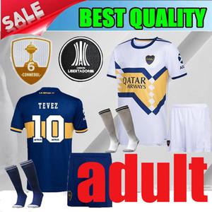YETİŞKİN TAKIMLARI 20 21 Boca Juniors ev De Rossi Soccer formaları 2020 Boca Juniors deplasmanda TEVEZ CARDONA erkekler kitleri 2021 Futbol gömlek şort çorap