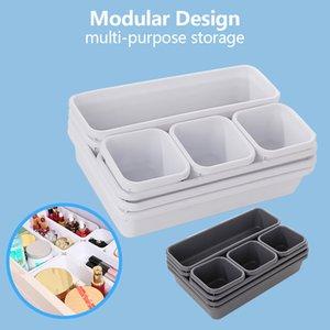 #L4 Drawer makeup Organizers storage box Best Interlocking Narrow Drawer for Bathroom,Office organizer organizador de maquillaje