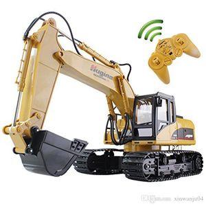 Huina RC Escavadeira 15CH 2.4G Controle Remoto Truck Crawler Digger Modelo Engenharia Eletrônica Truck brinquedos para as crianças