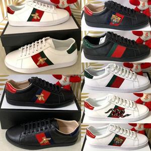 Caixa Original Novo Designer Sapatos de Homem De Alta Qualidade Designer De Luxo Feminino Calçado Ao Ar Livre Sapatos de Homem Casual Ace Shoes Bee Stripe Tamanho 35-47