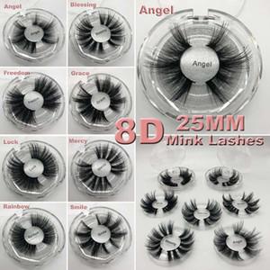 Lange dramatische Nerz Wimpern 3D Nerz Wimpern 5D 25mm lange dicke Nerz Wimpern handgemachte falsche Wimpern Augen Make-up Maquiagem 8D Serie 16 Stile