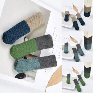 Neue Art und Weise Möbel Tisch Krücke Füße Hocker Schutz Knit Feet Stuhl Bein Tipp Auflage-Abdeckung