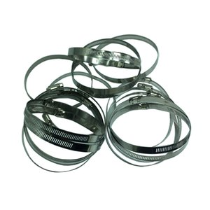 Hose Clamp, 50 Pieces Stainless Steel Adjustable Worm Gear Hose Clamp, Fuel Line Clamp for Plumbing, Automotive and Mechanical Applications