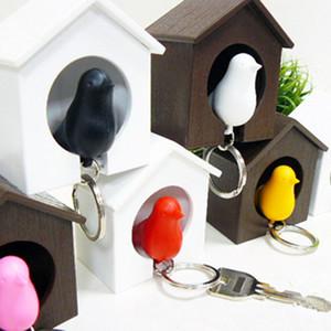 Vogel Vogelhäuschen Whistle Schlüsselring Kreative Einzel Vogel-Haus-Schlüsselanhänger Vögel Whistles Keychain Festival-Neuheit-Geschenk-Hauptdekoration BC BH2703