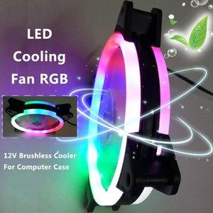 Fãs ventilador de refrigeração 120 milímetros PC CPU LED Cooling Fan 12V 4Pin para 3Pin RGB Ultra silencioso Computer cooler ND998