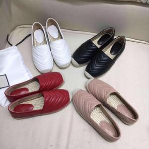 Mulheres Couro Alpercatas Flat Shoes Moda Calçados Two Tone Cap Toe Loafers formadores preto real Lambskin deslizamento-em calçados casuais Com Box