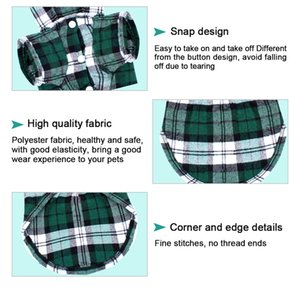 Dog Shirts for French Bulldog Classic Plaid Pet Vest Clothing for Small Medium Large Dogs Cats Soft Pet supplies XS S M L XL