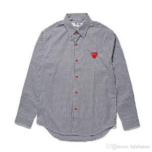 2018 Yeni Kalite Kalp Emoji OYUN Erkek Kadın Uzun Gömlek Bluz Saf renk Com Uzun Kollu Des Garcons T-shirt