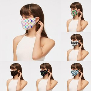 Wholesale Unisex luxury face mask print designer women outdoor cycling breathable mouth-muffle Adult reusable washable masks