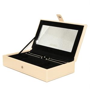 الكلاسيكية مربع والمجوهرات أزياء للمجوهرات باندورا الأقراط والأساور صندوق تخزين حلقة رائعة 2019 مربع جلد جديد الشحن المجاني