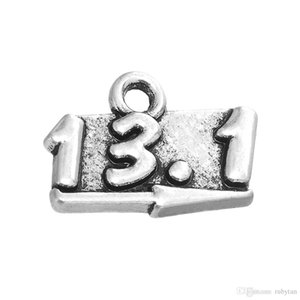 4 Style 50pcs lot Arabic numerals Marathon distance Alloy Charms Dangle Hanging Charm DIY Jewelry Accessories Charms Jewelry