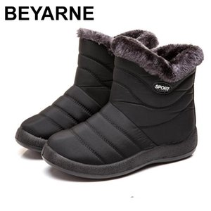 BEYARNENew Snow Boots Women Waterproof Ankle Slipper Winter Boots Woman Warm Short Plush Insole Female Flanging Shoes Big Size