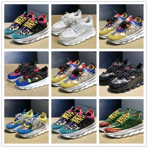 2020 chain Reaction Running Design Shoes Men Womens District Medusa Habanero Link-Embossed Sole Trainer Flair Sneakers