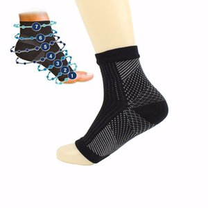 NEW 1 Pair Lot Man Women Anti Fatigue Compression Foot Sleeve Foot Ankle Compression Socks Anti Fatigue Varicose Feet Sleeve