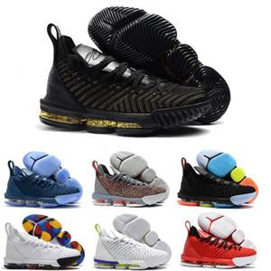 Novità Le Bron 16 Mens scarpe da basket James 16 W Marca Moda Sport Sneakers comodo di alta qualità a basso Pattini degli addestratori Size 7-13