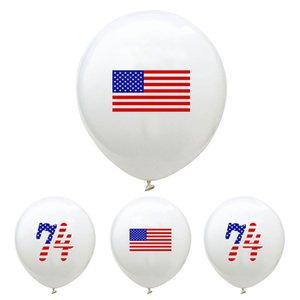 12-дюймовый шар американский День независимости Supplies 2020 Trump Выборы Supplies Флаг США Печать Декорации для вечеринок Бесплатная доставка