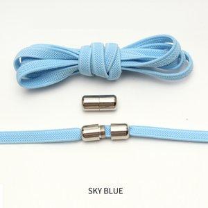 New Flat Elastic Locking Shoelace No Tie Shoelaces Special Creative Kids Adult Unisex Sneakers Women Men Shoes Laces strings