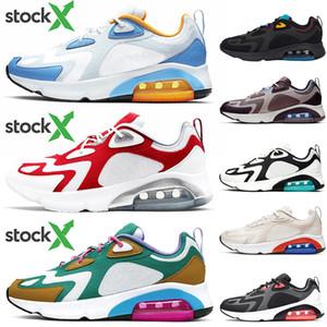 Nike Air MAX 200 Üst Kalite Erkekler Kadınlar Ucuz Ayakkabı Üniversitesi Mavi Kırmızı 200 Tasarımcı Teal Bordo Çölde Kum Pist Saha Eğitmeni Sneakers 36-45 Koşu