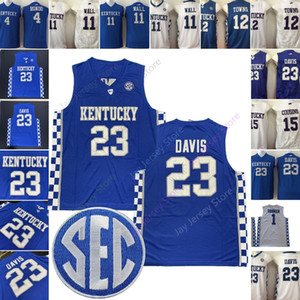 Cugini NCAA Kentucky Wildcats Basketball Jersey College di Rajon Rondo John Wall Karl Anthony Towns DeMarcus Anthony Davis Brooker