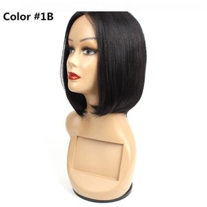 D Ombre Human Hair Lace Wigs Short Bob Style 10 Inch Brazilian Straight Hair Capless Wigs Cheap Human Hair Wigs
