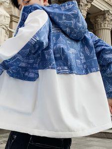 2019 Tasarımcı Toptan Womens Tasarımcı ceketler Coats İlkbahar Sonbahar Fermuar Kapüşonlular Moda Spor Ceketler Uzun Kollu Coats B100196Q