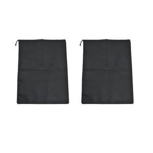 2pcs Home Shoes Organizer Black Dust Proof Portable Environmental Durable Travel Non Tecled Drawstring Storage Case