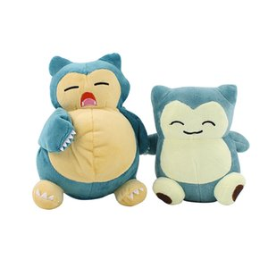 """1Pcs 8inch""""20cm Open Mouth Snorlax Plush Anime New Rare Soft Stuffed Animal Doll For Christmas Gift Valentine's Day"""