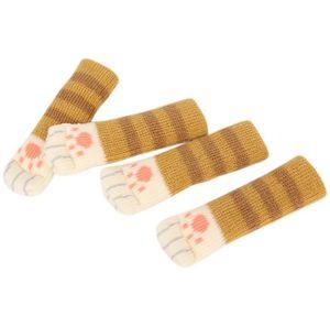4pcs cat shoes Anti Slip Mat Bumper Damper Cute Furniture Leg Feet Rug Caps Felt Pads Cat Claw Chair Leg Sock Table Protector D3