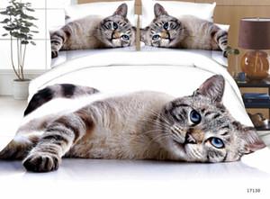 Srtª. o personalizado 3d animal Queen Size edredon Covers Dog Tiger Wolf Peacock Cat Leopard Bedding Set Bedlet Bed lines