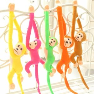 60cm Long Arm Tail Monkey Stroller Baby Rattle Mobiles Bell Plush Toys Infant Dolls Educational For Toddlers