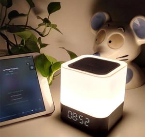 새로운 뜨거운 판매 Musky DY28 플러스 무선 4.0 블루투스 LED 램프 스피커 가변 라이트 터치 피드백 알람 시계 AUX 4000mAh DHL 무료 배송