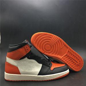 Meilleure version 1 High OG Backboard Homme Brisé Designer Basketball Chaussures New Comfort I Étoile de mer Noire Chaussures de sport Voile Mode bateau avec la boîte