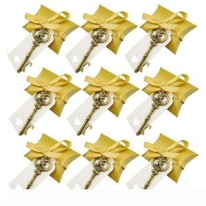 50Pcs set Gold Key Bottle Opener with Candy Box Wedding Favour Skeleton for Party Rustic Decoration Send A Small Gift To A Guest