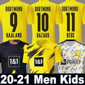 20 21 HAALAND Borussia Dortmund SANCHO camiseta de fútbol 2020 camiseta de fútbol 2021 110a REUS Hummels BRANDT PACO DELANEY Men + Kids kit maillot
