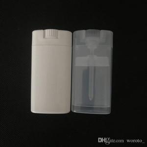 Svuotare plastica ovale Deodorante Contenitori Lip Balm Tubetti con tappo coperchio 15ML per Rossetto, Pastello, burro cacao, fatto in casa Balsamo per le labbra, BPA