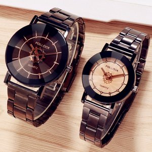 Personality pointer hands creative design lovers couple watches wholesale fashion leisure unisex women mens dress quartz watches